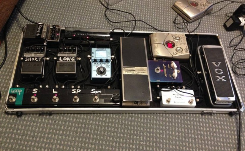 最近レコーディングで使っているギターとエフェクター